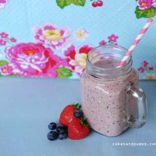 Strawberry-Blueberry smoothie