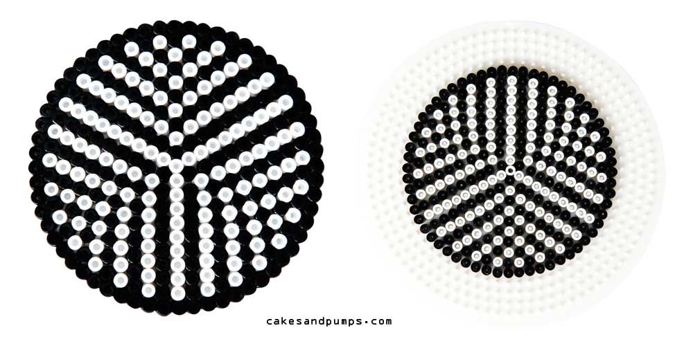 Coaster7, made of ironing beads