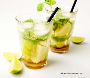 Cocktail Mojito with rum, mint and lemon on Cocktail Friday