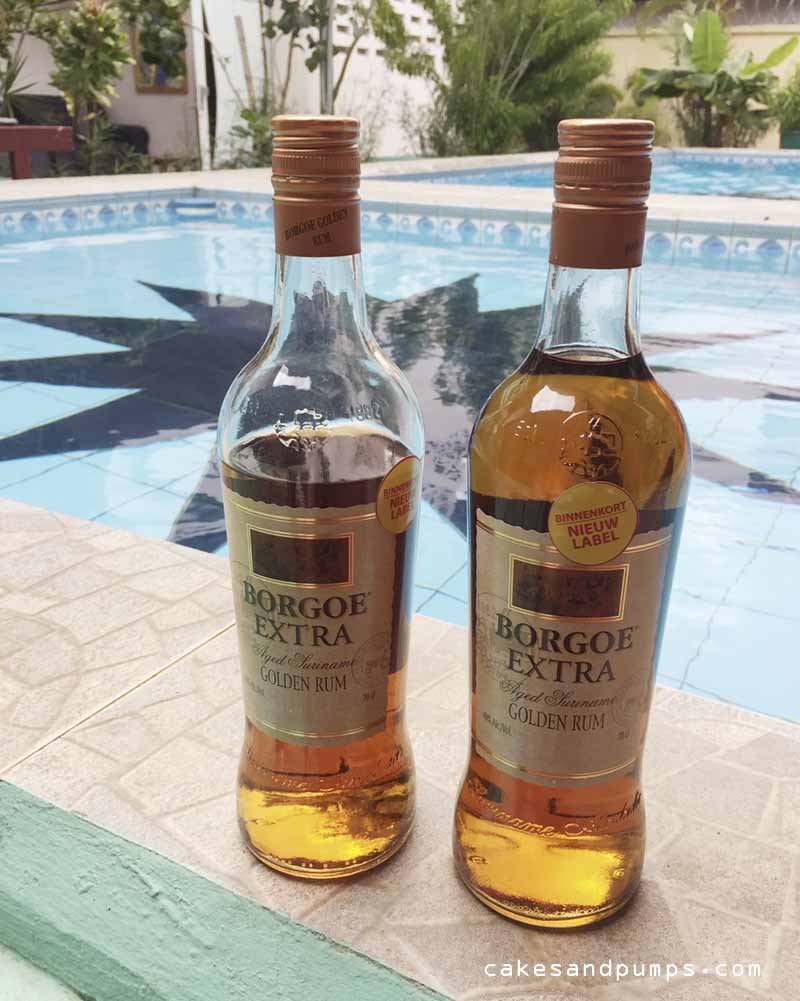 Bottles with borgoe for in rum cola