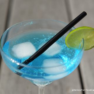 Caribbean Blue cocktail close up