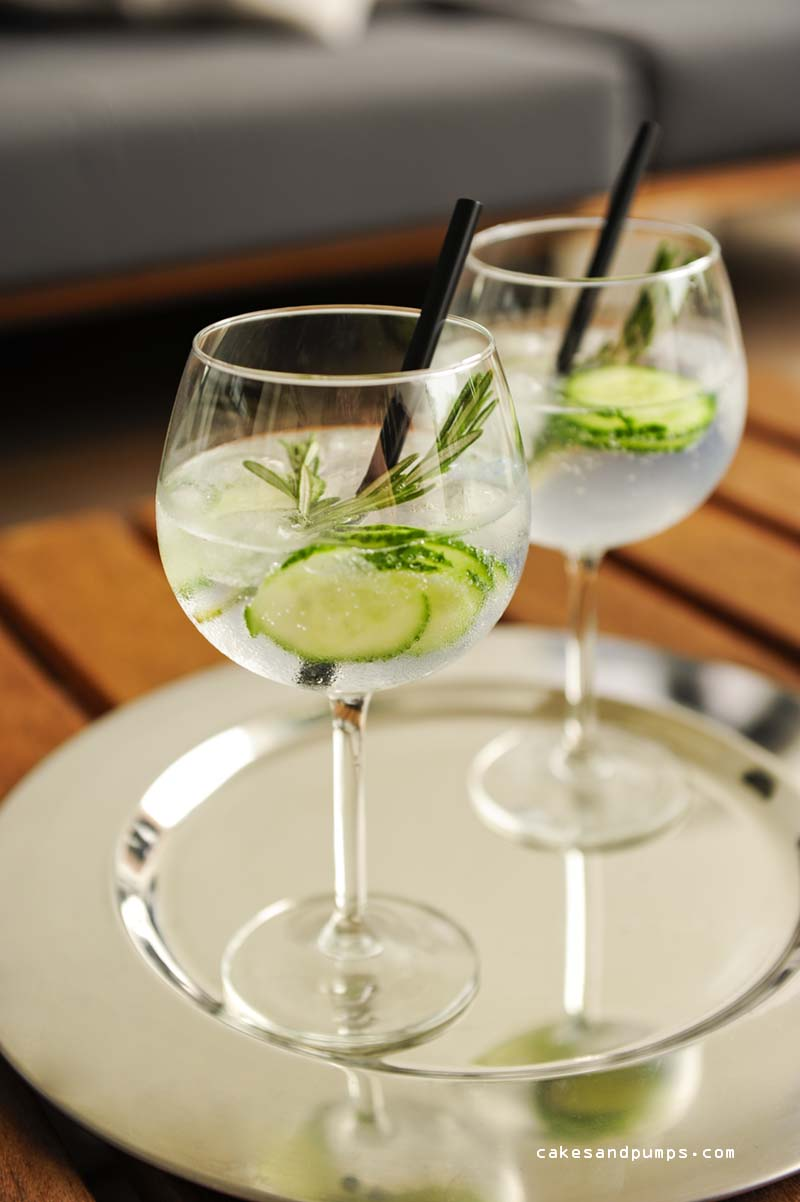 Gin tonic with Hendricks gin Fentimans