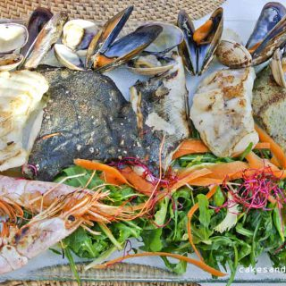 Grilled Fish we ordered at restaurant Elements, cala Benirras Ibiza