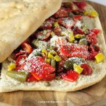Focaccia Sandwich with vegetables