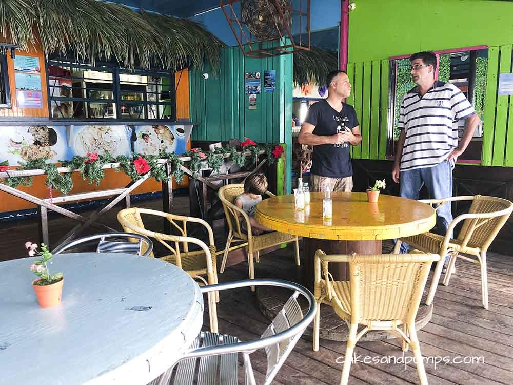 Inside Pop's place2 Curacao. Review on cakesandpumps.com