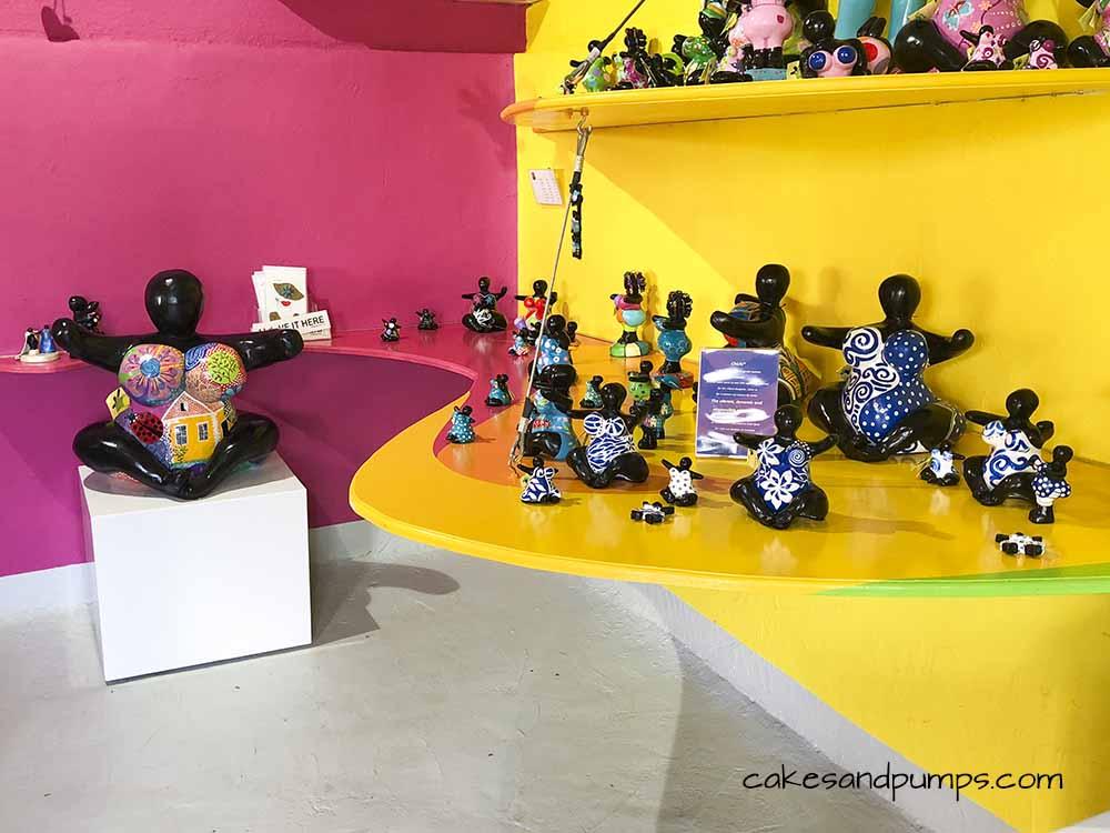 Inside the shop of Serena's art factory, cakesandpumps.com